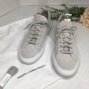 Woman by Common Projects Achilles Suede Sneakers 9